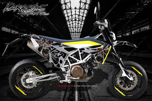 HUSQVARNA 701 SUPERMOTO / ENDURO GRAPHICS WRAP 'THE DEMONS WITHIN' DECAL KIT - Darkside Studio Arts LLC.