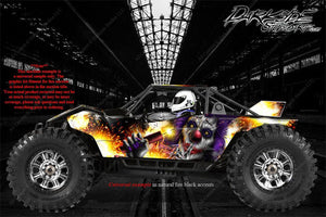 "AXIAL YETI MONSTER BUGGY XL WRAP GRAPHICS ""PYRO"" FITS OEM BODY PARTS 1/8 - Darkside Studio Arts LLC."