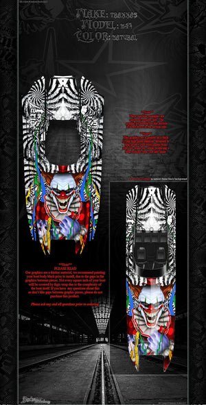 "TRAXXAS DCB M41 CATAMARAN WRAP GRAPHICS ""TICKET TO RIDE"" FITS OEM HULL DECAL KIT - Darkside Studio Arts LLC."