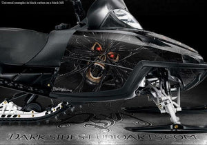 "ARCTIC CAT M-SERIES M8 M7 2006-2011 ""THE DEMONS WITHIN"" CARBON FIBER EDITION - Darkside Studio Arts LLC."