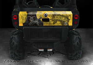 "CAN-AM COMMANDER LTD LIMITED EDITION 1000 HOOD & TAILGATE GRAPHICS ""THE OUTLAW"" - Darkside Studio Arts LLC."
