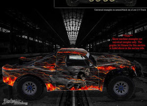"LOSI XXX-SCT TRUCK WRAP GRAPHIC DECAL STICKER KIT ""HELL RIDE"" 1/10 FOR OEM BODY - Darkside Studio Arts LLC."