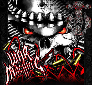 "ARRMA KRATON GRAPHICS WRAP DECALS ""WAR MACHINE"" HOP UP STICKER SET RED - Darkside Studio Arts LLC."