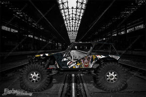 "AXIAL WRAITH WRAP GRAPHICS DECAL KIT ""THE JESTERS GRIN"" FITS OEM BODY PARTS 1/10 - Darkside Studio Arts LLC."