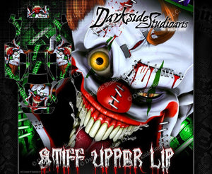 "TRAXXAS E-MAXX GRAPHICS WRAP DECALS ""STIFF UPPER LIP"" FITS TRA3911 OEM BODY PARTS - Darkside Studio Arts LLC."