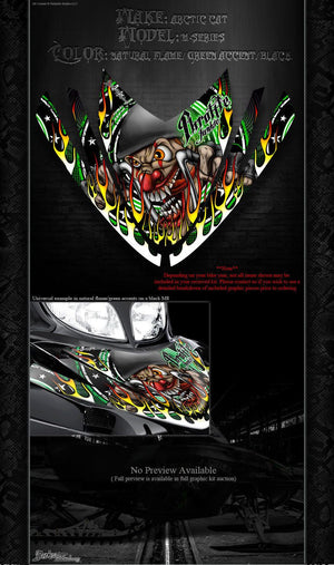 "ARCTIC CAT M-SERIES ""THROTTLE JUNKIE"" CROSSFIRE GRAPHICS DECALS HOOD SET M8 M6 - Darkside Studio Arts LLC."