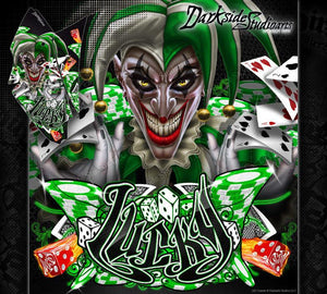 "KAWASAKI KFX450R GRAPHICS WRAP DECAL KIT ""LUCKY"" FITS OEM PLASTICS / PARTS - Darkside Studio Arts LLC."