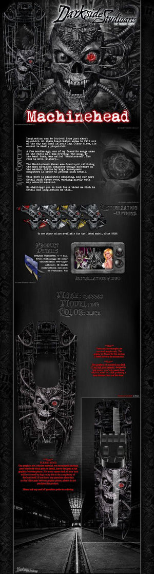 "TRAXXAS DCB M41 CATAMARAN WRAP GRAPHICS ""MACHINEHEAD"" FITS OEM HULL BLACK DECALS - Darkside Studio Arts LLC."