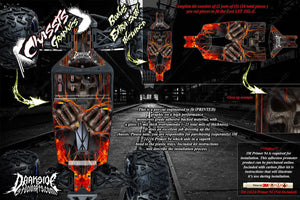 LOSI LST 3XL-E 'HELL RIDE' CHASSIS WRAP DECAL KIT HOP UP SKID PLATE PROTECTION - Darkside Studio Arts LLC.