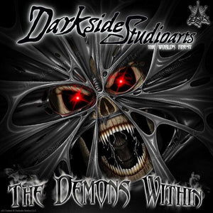 "YAMAHA VIKING HOOD GRAPHICS WRAP KIT ""THE DEMONS WITHIN"" DECAL SET ACCESSORY - Darkside Studio Arts LLC."