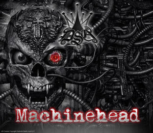 "YAMAHA BANSHEE GRAPHICS DECALS SET ""MACHINEHEAD"" FOR BLACK PLASTICS PARTS SKULL - Darkside Studio Arts LLC."