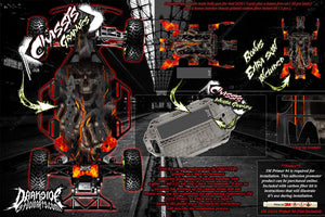 TRAXXAS SLASH 4x4 LCG CHASSIS 'HELL RIDE' HOP UP GRAPHICS DECALS FITS TRA7421 - Darkside Studio Arts LLC.