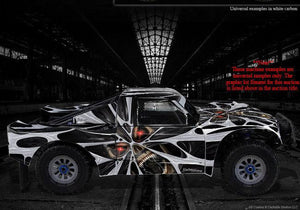 "LOSI 5IVE T 4WD TRUCK WRAP GRAPHIC KIT ""THE DEMONS WITHIN"" FITS OEM BODY PANELS - Darkside Studio Arts LLC."