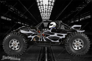 "AXIAL YETI MONSTER BUGGY XL DECALS GRAPHICS ""THE DEMONS WITHIN"" FITS OEM BODY - Darkside Studio Arts LLC."