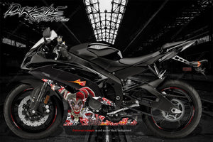 "YAMAHA R1 R3 R6 2008-2018 ""LUCKY"" GRAPHICS WRAP FOR FAIRING & SHROUDS ONLY JOKER - Darkside Studio Arts LLC."