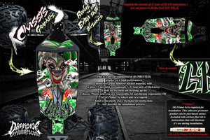 LOSI LST 3XL-E 'LUCKY' CHASSIS WRAP DECAL KIT HOP UP SKID PLATE PARTS PROTECTION - Darkside Studio Arts LLC.