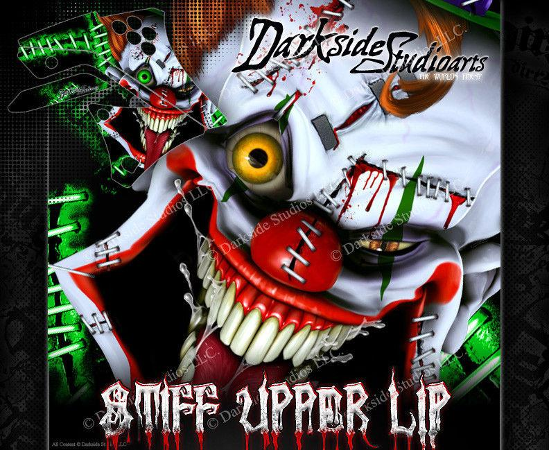 "KAWASAKI 2004-2017 KXF250 ""STIFF UPPER LIP"" GRAPHICS WRAP DECAL KIT KX250F - Darkside Studio Arts LLC."
