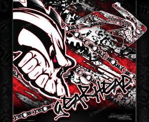 "HONDA 2004-2014 CRF450X CRF250X GRAPHICS WRAP ""GEAR HEAD"" DECAL KIT - Darkside Studio Arts LLC."