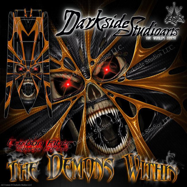 "PRO BOAT IMPULSE 31 DEEP V ""THE DEMONS WITHIN"" GRAPHICS FITS OEM HULL PROP PARTS - Darkside Studio Arts LLC."