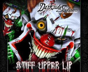 SUZUKI LTZ400 Z400 2003-2008 WRAP DECAL GRAPHIC SET KIT 'STIFF UPPER LIP' - Darkside Studio Arts LLC.