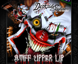 """STIFF UPPER LIP"" GRAPHIC WRAP FIT KTM 1998-2008 50SX 65SX KTM65 KTM50 SX65 SX50 - Darkside Studio Arts LLC."