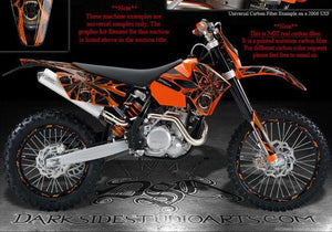 """THE DEMONS WITHIN"" GRAPHICS DECALS WRAP FITS KTM 1998-2006 SX SX-F MODELS - Darkside Studio Arts LLC."