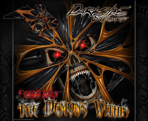 "PITSTER PRO WRAP ALL MODELS 2007-17 ""THE DEMONS WITHIN"" X2 X4 X5 LXR XJR - Darkside Studio Arts LLC."