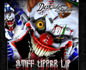 YAMAHA RAPTOR 350 *ALL YEARS* WRAP DECAL GRAPHIC SET KIT 'STIFF UPPER LIP' - Darkside Studio Arts LLC.