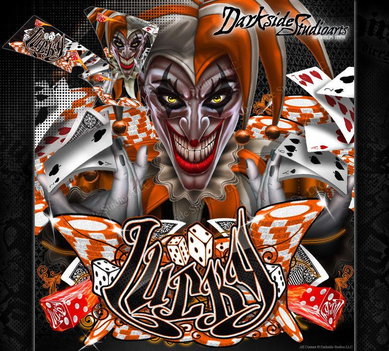 """LUCKY"" GRAPHICS WRAP FITS OEM PLASTICS ON KTM 1998-2008 SX50 SX65 KTM65 KTM50 - Darkside Studio Arts LLC."