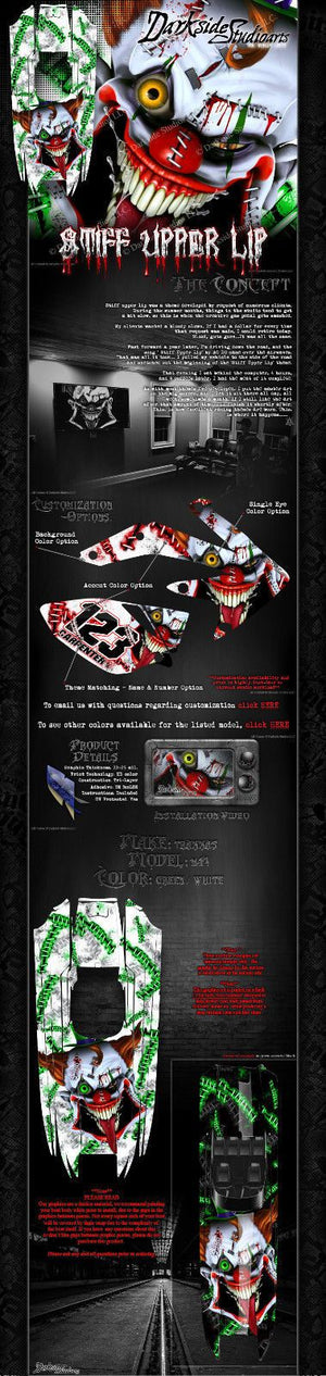 "TRAXXAS DCB M41 CATAMARAN WRAP GRAPHICS ""STIFF UPPER LIP"" FITS OEM HULL WHITE - Darkside Studio Arts LLC."