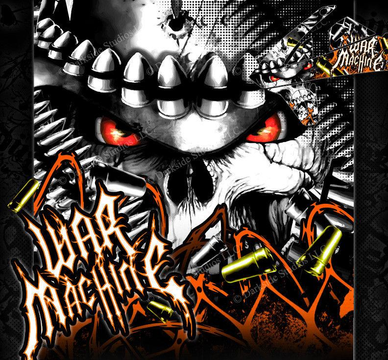 """WAR MACHINE"" GRAPHICS WRAP FITS KTM 2012-2018 EXC XCW 250 300 450 525 - Darkside Studio Arts LLC."