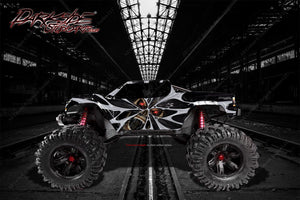 "TRAXXAS X-MAXX GRAPHICS WRAP DECALS ""THE DEMONS WITHIN"" FITS PROLINE CHEVY SILVERADO, FORD RAPTOR, BRUTE BASH & STOCK BODY - Darkside Studio Arts LLC."