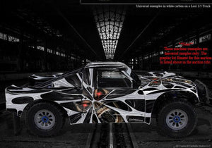 "LOSI XXX-SCT TRUCK WRAP GRAPHIC DECAL KIT ""THE DEMONS WITHIN"" FITS OEM PARTS - Darkside Studio Arts LLC."