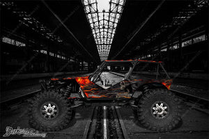 "AXIAL WRAITH ROCK RACER WRAP GRAPHICS ""HELL RIDE"" FITS OEM BODY 1/10 - Darkside Studio Arts LLC."