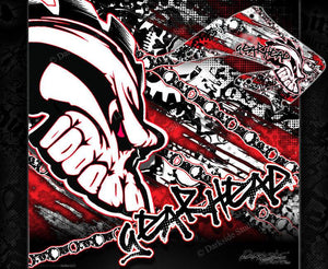 "HONDA 1984-1999 CR125 CR250 GRAPHICS WRAP ""GEAR HEAD"" DECAL KIT - Darkside Studio Arts LLC."