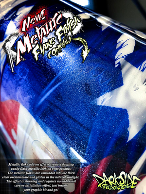 TRAXXAS X-MAXX CHASSIS / SHOCK TOWER PRINTED FLAMES GRAPHICS DECALS BLUE - Darkside Studio Arts LLC.