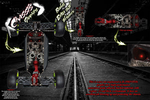LOSI TEN-SCBE 'THE OUTLAW' CHASSIS WRAP HOP UP DECALS FITS LOS231001 - Darkside Studio Arts LLC.