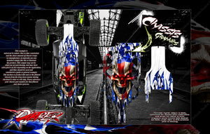 HPI BAJA 5B CHASSIS SKID GRAPHIC WRAP SKIN PROTECTION KIT 'RIPPER' - Darkside Studio Arts LLC.