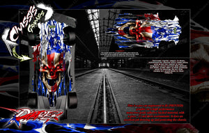 'RIPPER' CHASSIS WRAP FOR TRAXXAS XO-1 HOP UP GRAPHICS DECALS KIT FITS TRA6422 - Darkside Studio Arts LLC.