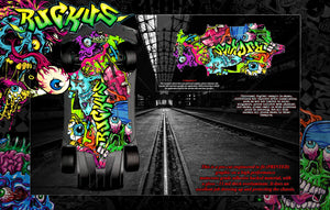 'RUCKUS' CHASSIS WRAP FOR TRAXXAS XO-1 HOP UP GRAPHICS DECALS KIT FITS TRA6422 - Darkside Studio Arts LLC.