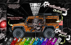 'MACHINEHEAD' CHASSIS WRAP FOR ARRMA INFRACTION / LIMITLESS / FELONY HOP UP GRAPHICS DECALS KIT FITS ARA320514 - Darkside Studio Arts LLC.