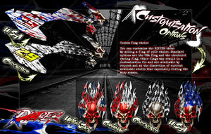"PRO BOAT IMPULSE SHOCKWAVE SONICWAKE 36"" ZELOS 36"" (MISS GEICO) BOAT CUSTOM WRAP DECAL GRAPHICS KIT 'RIPPER' - Darkside Studio Arts LLC."
