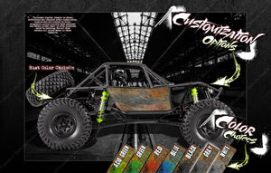 AXIAL WRAITH / SPAWN / JEEP / DEADBOLT / RR10 BOMBER EXO GRAPHICS WRAP 'RUST' - Darkside Studio Arts LLC.