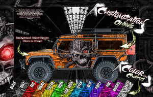 'MACHINEHEAD' CHASSIS WRAP FOR TRAXXAS UNLIMITED DESERT RACER HOP UP FITS TRA8521 - Darkside Studio Arts LLC.