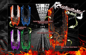 LOSI MTXL MONSTER TRUCK WRAP DECAL HOP-UP CUSTOM KIT PARTS 'HELL RIDE' FITS LOS250015 BODY - Darkside Studio Arts LLC.