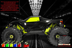 TRAXXAS MAXX 4S 1/10 CHASSIS / SHOCK TOWER 3M NEON AND SOLID COLOR SKIN DECAL GRAPHICS KIT - Darkside Studio Arts LLC.