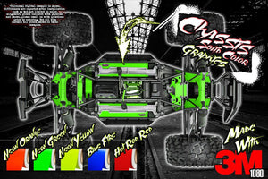 TRAXXAS X-MAXX INTERIOR CHASSIS / SHOCK TOWER / BATTERY TRAY NEON & SOLID COLOR GRAPHICS DECALS