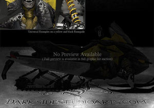 "SKI-DOO BLACK SIDE PANEL GRAPHICS XP REV RENEGADE 08-12 ""THE OUTLAW"" SUMMIT MXZ - Darkside Studio Arts LLC."