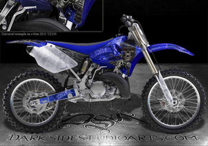 "YAMAHA YZ125 YZ250 2002-2013 2-STROKE ONLY GRAPHICS KIT BLACK ""THE OUTLAW"" - Darkside Studio Arts LLC."