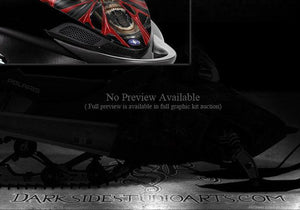 "POLARIS 2005-2011 SHIFT IQ DRAGON HOOD GRAPHICS ""THE DEMONS WITHIN"" WRAP NATURAL - Darkside Studio Arts LLC."